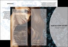 personnaliser modele de depliant 3 volets  6 pages  centre esthetique  coiffure salon de coiffure beaute MLGI26288