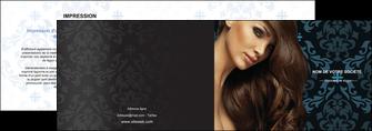 cree depliant 2 volets  4 pages  centre esthetique  coiffure salon de coiffure beaute MLGI26300