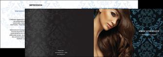 personnaliser modele de depliant 2 volets  4 pages  centre esthetique  coiffure salon de coiffure beaute MLGI26302