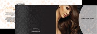 cree depliant 2 volets  4 pages  centre esthetique  coiffure coiffeur coiffeuse MLGI26322