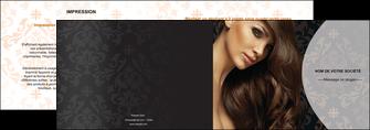 personnaliser maquette depliant 2 volets  4 pages  centre esthetique  coiffure coiffeur coiffeuse MLGI26324