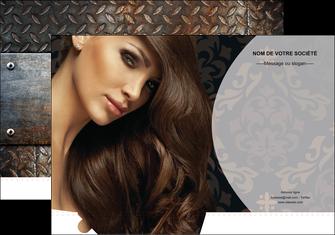 personnaliser maquette pochette a rabat centre esthetique  coiffure coiffeur coiffeuse MLGI26328