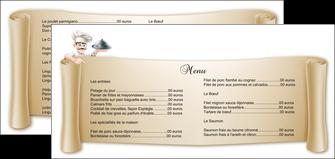 exemple flyers metiers de la cuisine menu restaurant restaurant francais MLGI26354
