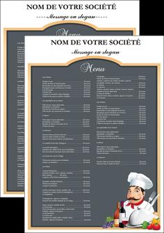 cree flyers metiers de la cuisine menu restaurant restaurant francais MIF26406
