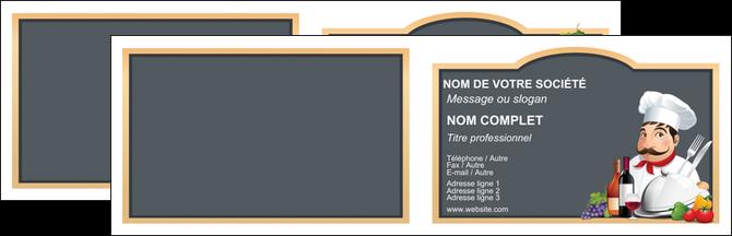 impression carte de visite metiers de la cuisine menu restaurant restaurant francais MIF26412