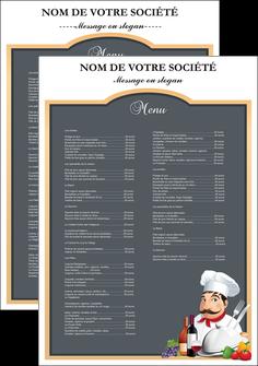 faire modele a imprimer affiche metiers de la cuisine menu restaurant restaurant francais MLGI26414