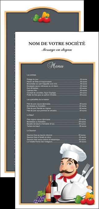 maquette en ligne a personnaliser flyers metiers de la cuisine menu restaurant restaurant francais MLGI26416