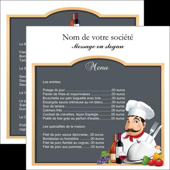 faire flyers metiers de la cuisine menu restaurant restaurant francais MLGI26420