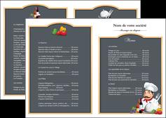 exemple depliant 2 volets  4 pages  metiers de la cuisine menu restaurant restaurant francais MLGI26422