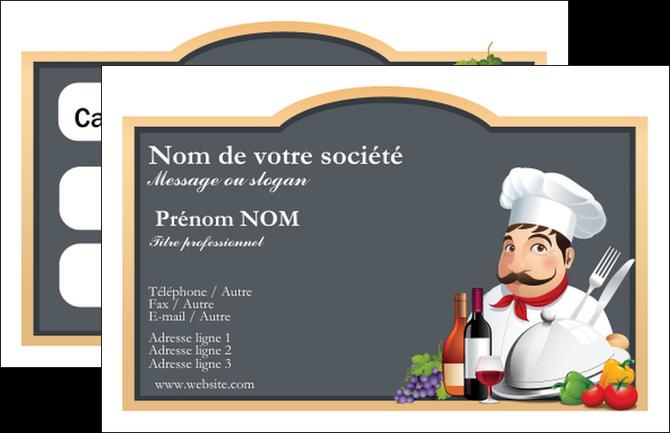 maquette en ligne a personnaliser carte de visite metiers de la cuisine menu restaurant restaurant francais MIF26424