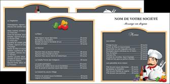 cree depliant 2 volets  4 pages  metiers de la cuisine menu restaurant restaurant francais MLGI26428
