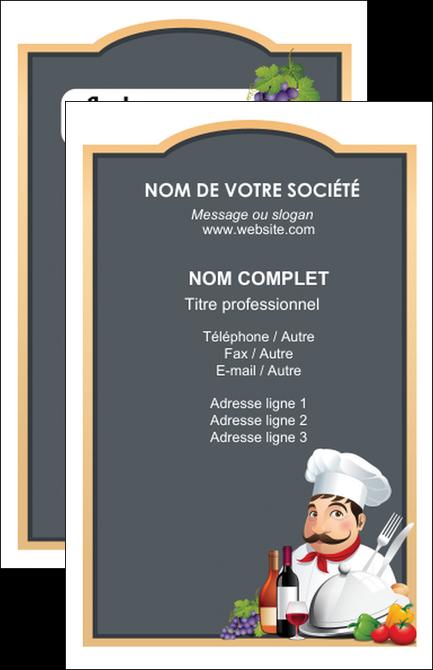 impression carte de visite metiers de la cuisine menu restaurant restaurant francais MLGI26430
