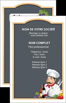impression carte de visite metiers de la cuisine menu restaurant restaurant francais MIF26430