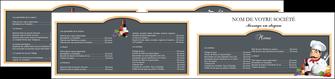 imprimer depliant 2 volets  4 pages  metiers de la cuisine menu restaurant restaurant francais MLGI26432