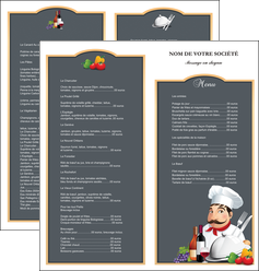 faire modele a imprimer depliant 2 volets  4 pages  metiers de la cuisine menu restaurant restaurant francais MLGI26434