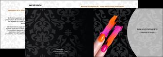 faire modele a imprimer depliant 2 volets  4 pages  cosmetique beaute ongles beaute des ongles MLGI26524