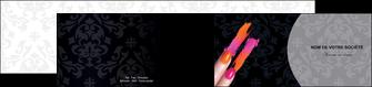modele depliant 2 volets  4 pages  cosmetique beaute ongles beaute des ongles MLGI26526