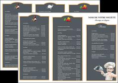 personnaliser modele de depliant 3 volets  6 pages  metiers de la cuisine c MLGI26536