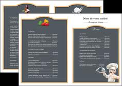 imprimer depliant 2 volets  4 pages  metiers de la cuisine c MLGI26550
