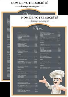faire flyers metiers de la cuisine menu restaurant restaurant francais MLGI26618