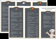 faire depliant 3 volets  6 pages  metiers de la cuisine menu restaurant restaurant francais MLGI26620