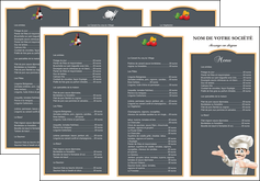 creation graphique en ligne depliant 3 volets  6 pages  metiers de la cuisine menu restaurant restaurant francais MLGI26622