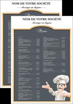 imprimerie affiche metiers de la cuisine menu restaurant restaurant francais MLGI26626