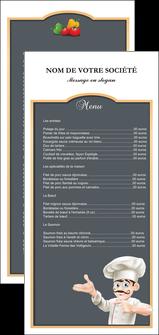 realiser flyers metiers de la cuisine menu restaurant restaurant francais MLGI26628