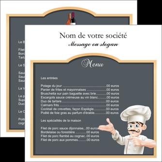 exemple flyers metiers de la cuisine menu restaurant restaurant francais MLGI26632