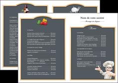 imprimer depliant 2 volets  4 pages  metiers de la cuisine menu restaurant restaurant francais MLGI26634