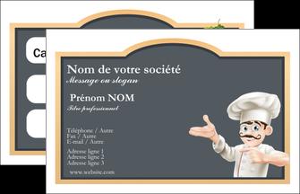 personnaliser maquette carte de visite metiers de la cuisine menu restaurant restaurant francais MLGI26636
