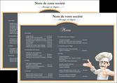 imprimer set de table metiers de la cuisine menu restaurant restaurant francais MLIP26638