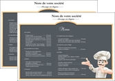 imprimer set de table metiers de la cuisine menu restaurant restaurant francais MLGI26638