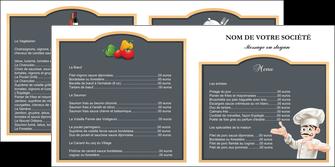 cree depliant 2 volets  4 pages  metiers de la cuisine menu restaurant restaurant francais MLGI26640