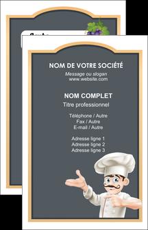 imprimerie carte de visite metiers de la cuisine menu restaurant restaurant francais MLGI26642