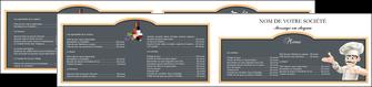 modele depliant 2 volets  4 pages  metiers de la cuisine menu restaurant restaurant francais MLGI26644