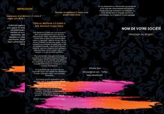 faire modele a imprimer depliant 3 volets  6 pages  cosmetique mode beaute salon MIF26666