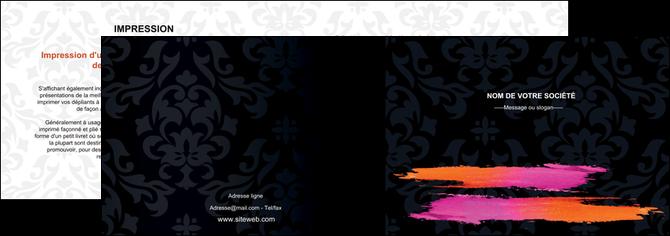 imprimer depliant 2 volets  4 pages  cosmetique mode beaute salon MLGI26678