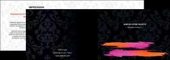 imprimer depliant 2 volets  4 pages  cosmetique mode beaute salon MIF26678