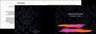 exemple depliant 2 volets  4 pages  cosmetique mode beaute salon MIF26680