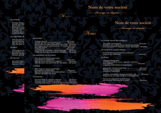 personnaliser maquette set de table cosmetique set de table menu set de table menu MLGI26758