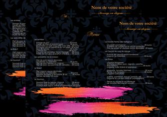 personnaliser maquette set de table cosmetique set de table menu set de table menu MIF26758