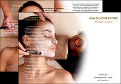 personnaliser maquette depliant 3 volets  6 pages  centre esthetique  masque masque du visage soin du visage MLGI26842