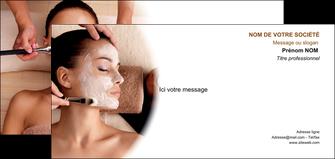 maquette en ligne a personnaliser carte de correspondance centre esthetique  masque masque du visage soin du visage MLGI26850