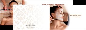modele depliant 2 volets  4 pages  centre esthetique  masque masque du visage soin du visage MLGI26854