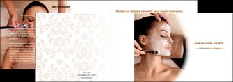 modele en ligne depliant 2 volets  4 pages  centre esthetique  masque masque du visage soin du visage MLGI26856