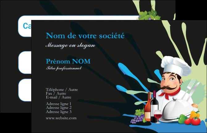 Extrêmement Carte de visite modèle et exemple menu, restaurant, restaurant  LX83
