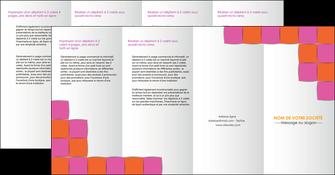 creation graphique en ligne depliant 4 volets  8 pages  texture contexture structure MLGI26894