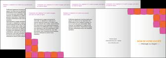 exemple depliant 4 volets  8 pages  texture contexture structure MLGI26900