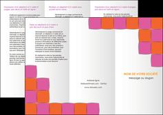 cree depliant 3 volets  6 pages  texture contexture structure MLGI26912
